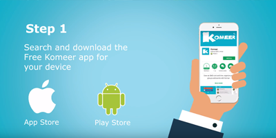 How to install the Free Komeer Mobile App and get started.
